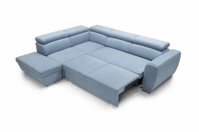 Ecksofa blau Emporio Bettfunktion