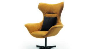 moderner Sessel gelb Grande