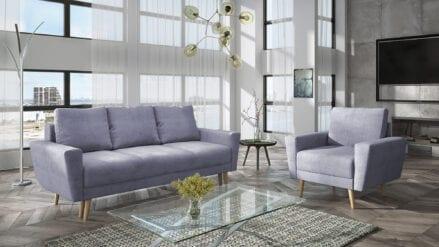 Sofa grau mit schlaffunktion Vida Primo 88