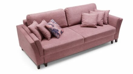 Bigsofa mit bettkasten York sofa rosa