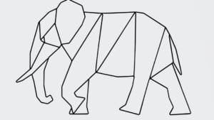 Wanddekoration Wallart Elefant