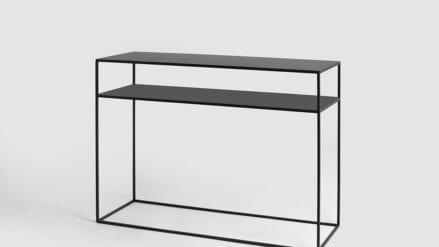 schwarz Konsolentisch aus metall Tensio 2 floor