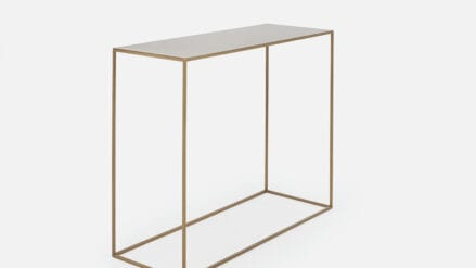 gold Konsolentisch aus metall Tensio