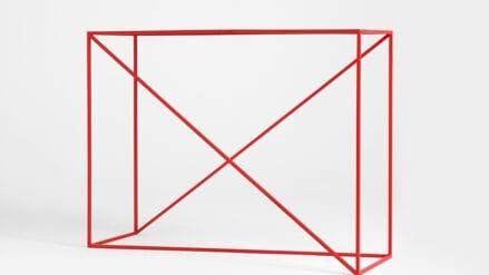 rot Konsolentisch aus Stahl - Memo