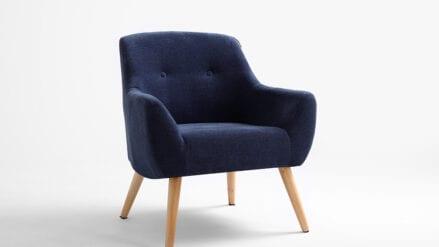 Sessel webstoff dunkelblau Betty