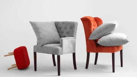 Sessel Chesterfield grau Roger