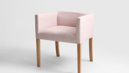 Sessel rosa Wilton box