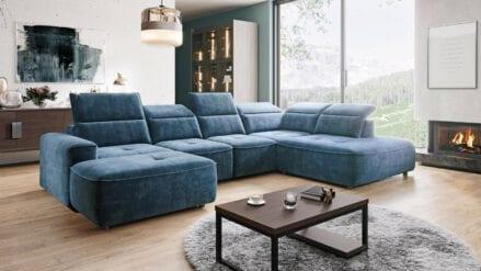 Wohnlandschaft blau Azul XL