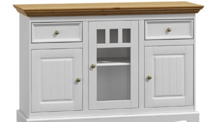 Sideboard in weiß Belluno 3D