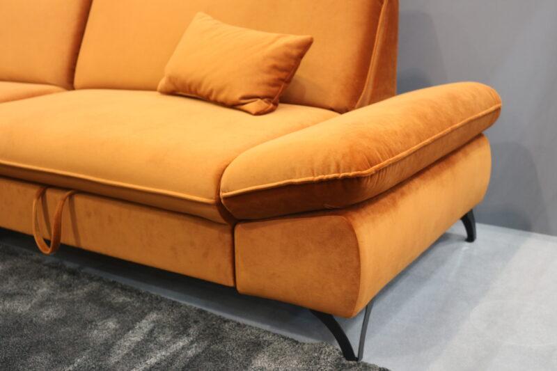 Ecksofa orange Detail