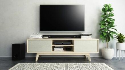 TV schrank eiche mit quartz