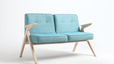 retro Sofa blau vinc