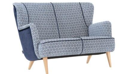 Designer Sofa Callas blau