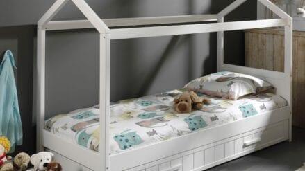 Hausbett und Bettschublade Laba