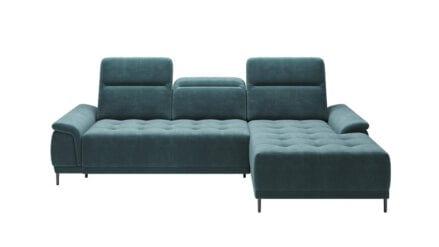 Ecksofa L-Form mit eletrischer Sitztiefenverstellung alvaro mini