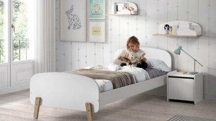 Einzelbett Luna weiß