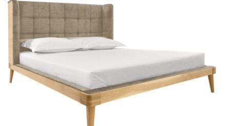 Bett aus Eiche Amaranth