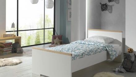Einzelbett Stone Weiß