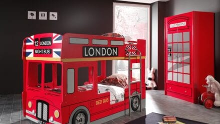 Autobett rot Bus