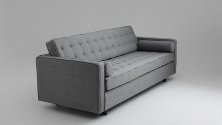 Schlafsofa Sofa grau 3-Sitzer Topic