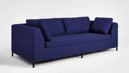 3-Sitzer Schlafsofa Sofa dunkelblau Ambient