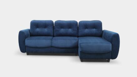 Ecksofa L-Form mit bettkasten Hampton- dunkelblau