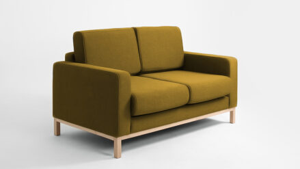 2-Sitzer Schlafsofa sofa gold gelb Scandic