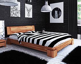 Holzbett aus eiche Vinci