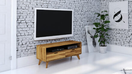 Eiche TV-Schrank 120 x 40 cm >>Greg