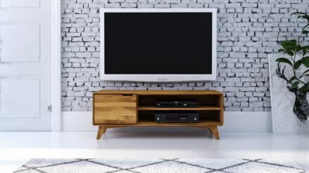Eiche TV-Schrank 134 x 40 cm Greg