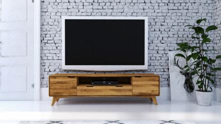 Eiche TV-Schrank 180 x 40 cm mit schublade Greg