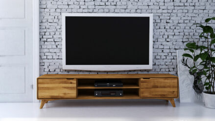 Eiche TV-Schrank 220 x 40 x 48 Greg