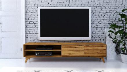 Eiche TV-Schrank 220x40 Greg
