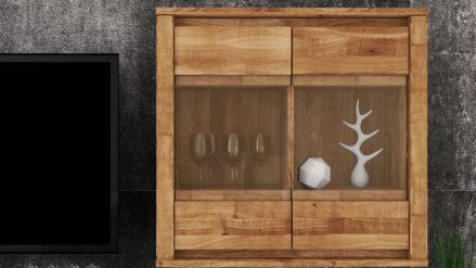 Massivholz Hängevitrine Vinci 2