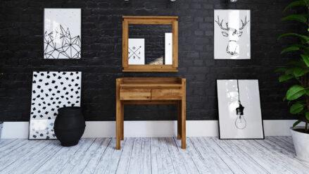 Massivholz Schreibtisch schminktisch aus eiche Vinci