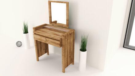 Massivholz Schminktisch mit Spiegel Vinci