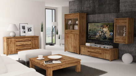 Massivholz Vitrine Vinci
