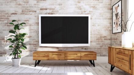 TV-Schrank Eiche massiv Golo mit 4 Schubladendetal