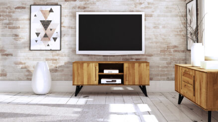 TV-Schrank aus Eiche massiv Golo detal