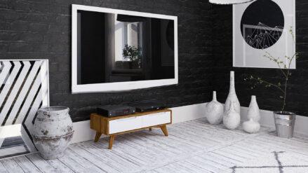 TV-Schrank Eiche >>Bianco