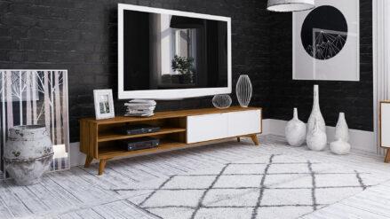 TV-Schrank Eiche 220x40 Bianco