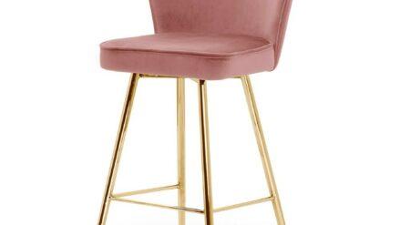Barhocker Aine 60 rosa mit gold