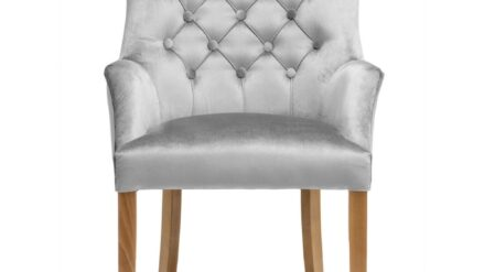 Polsterstuhl Chesterfield Albert grau