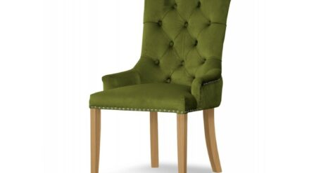 Polsterstuhl Chesterfield August eiche & grun