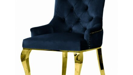 Polsterstuhl Chesterfield August Glamour goldfusse