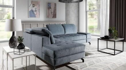 Luxury Ecksofa mit Schlaffunktion & Bettkasten Rafaello