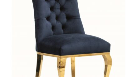 Polsterstuhl Chesterfield Lord Glamour gold & blau