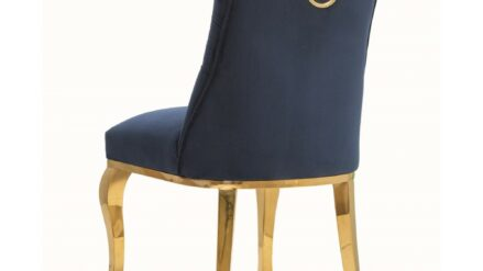 Polsterstuhl Chesterfield Lord Glamour gold und blau delux