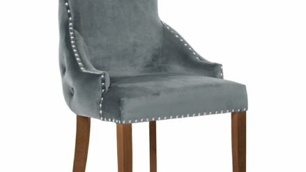 Polsterstuhl Chesterfield Edward grau
