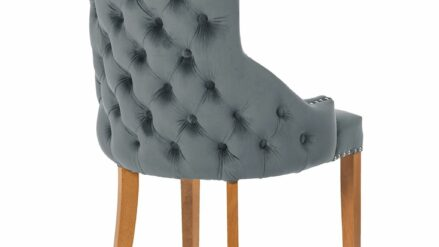 Polsterstuhl Chesterfield Edward grau detal